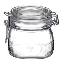 JAR GLASS W/CLR LID 0.56LT-BORMIOLI FIDO
