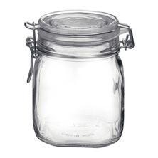 JAR GLASS W/CLR LID 0.75LT,BORMIOLI FIDO