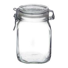 JAR GLASS W/CLR LID 1.11LT-BORMIOLI FIDO