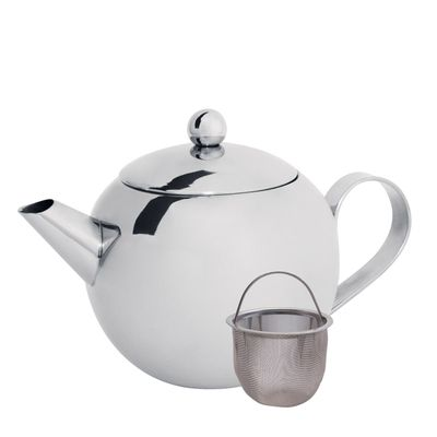 TEAPOT W/FILTER S/S 450ML, CUISENA