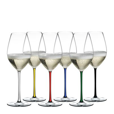 GLASS CHAMPAGNE SET 6, FATTO A MANO