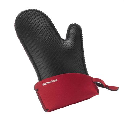 GLOVE OVEN BLK/RED LARGE, CUISIPRO