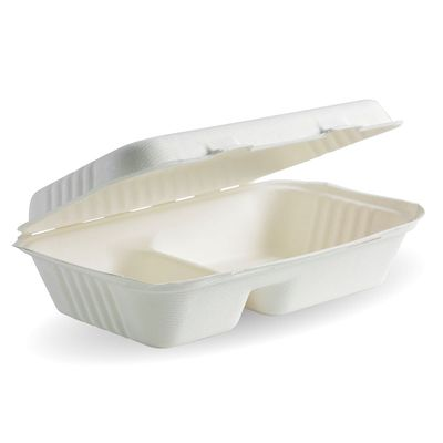CLAMSHELL 2COMP WHT 9X6X3 125PCES