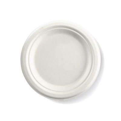 """ROUND PLATE WHITE 07"""", BIOPAK"""