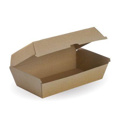 SNACK BOX BROWN LARGE, BIOBOARD 50PCES
