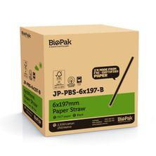 STRAW PAPER BLACK, BIOPAK 2500CTN