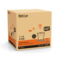 COLD CUP CLEAR 420ML, BIOPAK 1000CTN