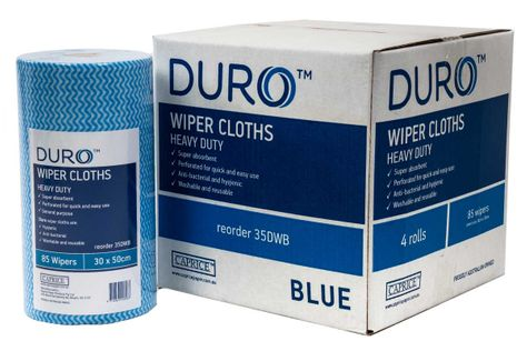 ROLL WIPES BLUE 90 SHEETS 45M