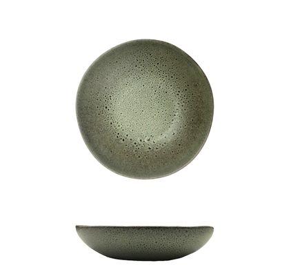 PLATE MATT GREEN 150MM, CERAMICA