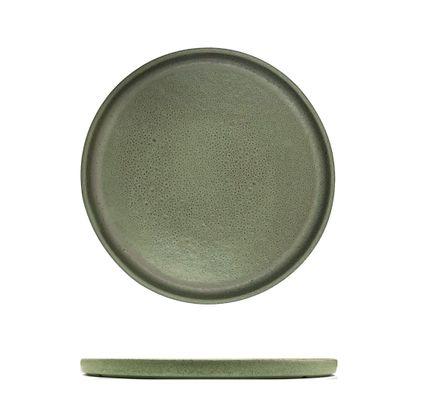PLATE MATT GREEN 205MM, CERAMICA