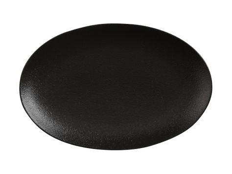 PLATE OVAL BLACK 25X16CM, MW CAVIAR