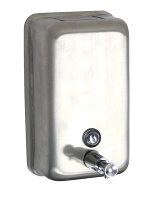 DISPENSER LIQ SOAP VERTICAL S/ST, NAB