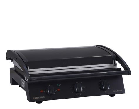 GRILL STATION SMOOTH 8 SLICE BLK ROBAND