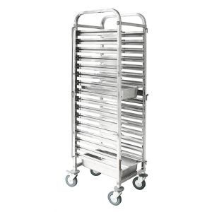 TROLLEY S/S 38X55X173CM FOR 16 GN TRAYS