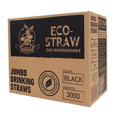ECO STRAW JUMBO BLACK 3000CTN
