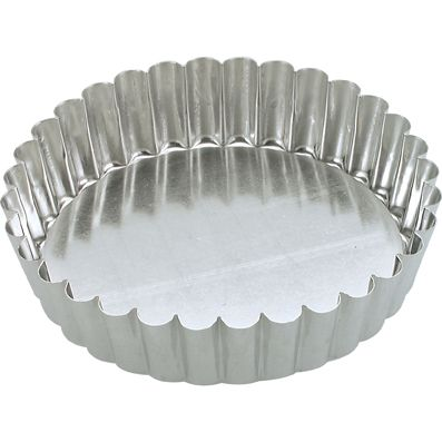 CAKE PAN RND FLUTE LOOSE 100X30MM, GUERY