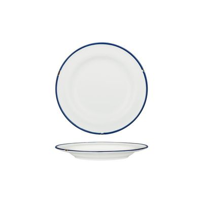 PLATE WHT/NVY 210MM, LUZERNE TINTIN