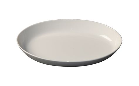 PLATE OVAL FLARED 285MM/3217, WHT/ALBUM