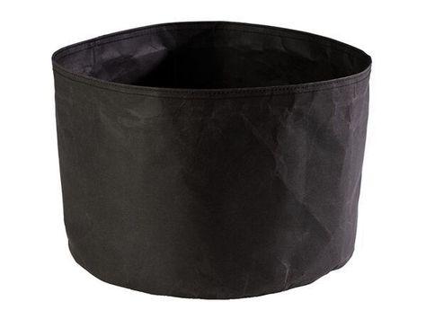 BREAD PAPER BAG BLACK 24X24CM, APS