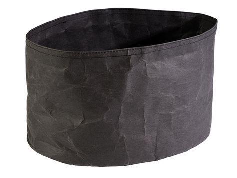 BREAD PAPER BAG BLACK 30X20X18CM, APS