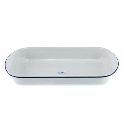 LASAGNE PAN WHT/BLU 46X30X6CM, FALCON