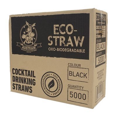 ECO STRAW COCKTAIL 140MM BLACK 5000CTN