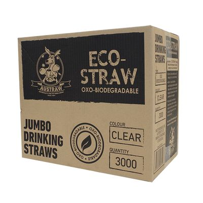 ECO STRAW JUMBO CLEAR 3000CTN