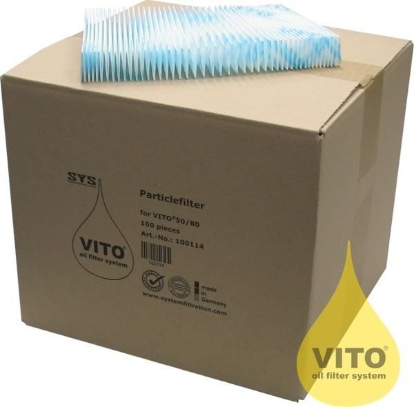 FILTERS TO SUIT VITO 50/80 BOX OF 100