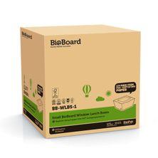 LUNCH BOX SML W/WINDOW BIOBOARD,  200CTN