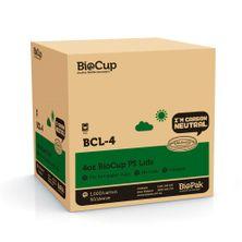 LID FOR 4OZ CUP PLASTIC, BIOPAK 1000CTN