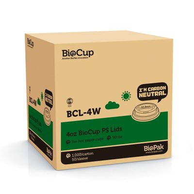 LID SIP 4OZ CUP PLASTIC, BIOPAK 1000CTN