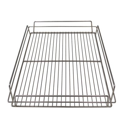 GLASS BASKET 430X355MM PLATED