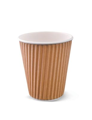 DETPAK RIPPLE CUP BROWN