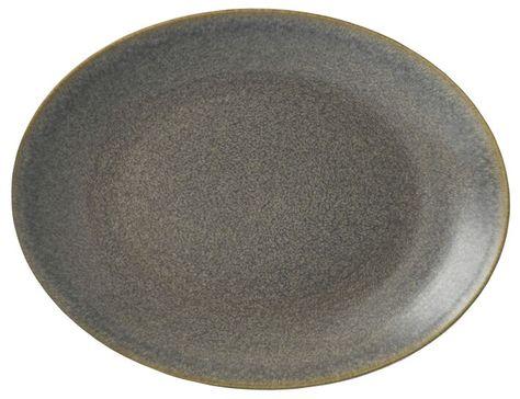 PLATE OVAL 27.9CM GRANITE, DUDSON EVO