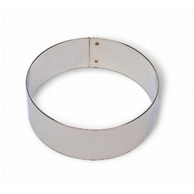 TART RING 180X20MM S/STEEL, MATFER