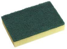 SCOURER GREEN SCOUR/YELLOW SPONGE 10/PKT