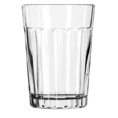 GLASS TUMBLER, PANELED