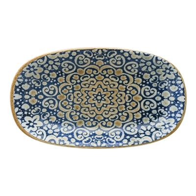 PLATE OVAL BLUE 150X85MM, BONNA ALHAMBRA