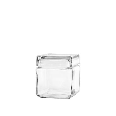 STACKABLE SQUARE JAR GLASS