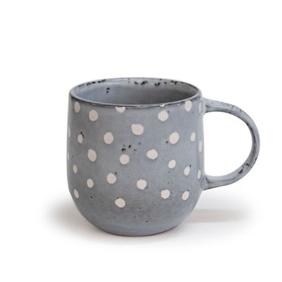 MUG POLKA GREY 380ML, S&P NAOKO