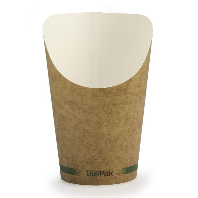 CHIP CUP KRAFT 12OZ, BIOPAK 50PCE