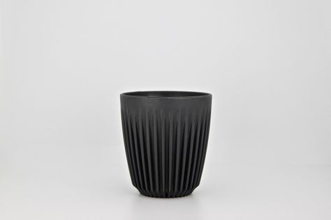 CUP CHARCOAL 8OZ, HUSKEE CUP