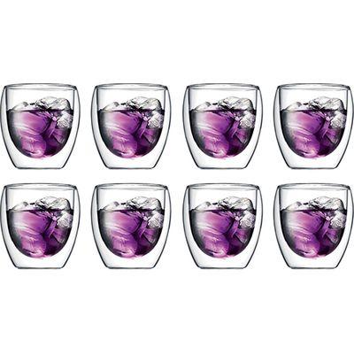PAVINA TWIN WALL GLASS PAY 6 GET 8 SET