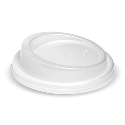 COFFEE CUP LID PLA 12OZ (90MM), BIOPAK