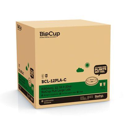 COFFEE CUP LID PLA 12OZ (90MM), BIOPAK