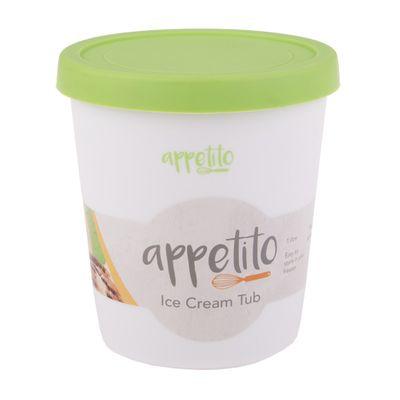 ICE CREAM TUB RND 1LT GREEN, APPETITO