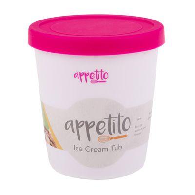 ICE CREAM TUB RND 1LT PINK, APPETITO