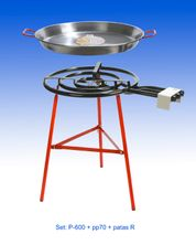 PAELLA SET 70CM PAN & GAS BURNER, IBIZA