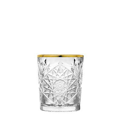 GLASS DOF GOLD RIM 355ML, LIBBEY HOBSTAR