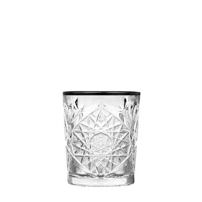 GLASS DOF BLK RIM 355ML, LIBBEY HOBSTAR